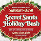 Secret Santa Holiday Bash V3 Flyer - GraphicRiver Item for Sale
