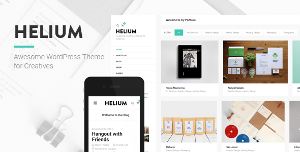Helium - Modern Portfolio & Blog Theme