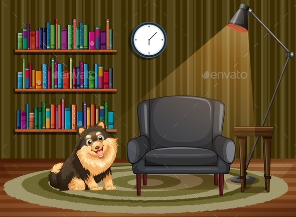 Dog and Living Room - Animals Characters