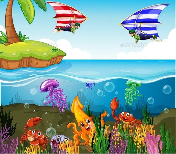 Ocean - Animals Characters