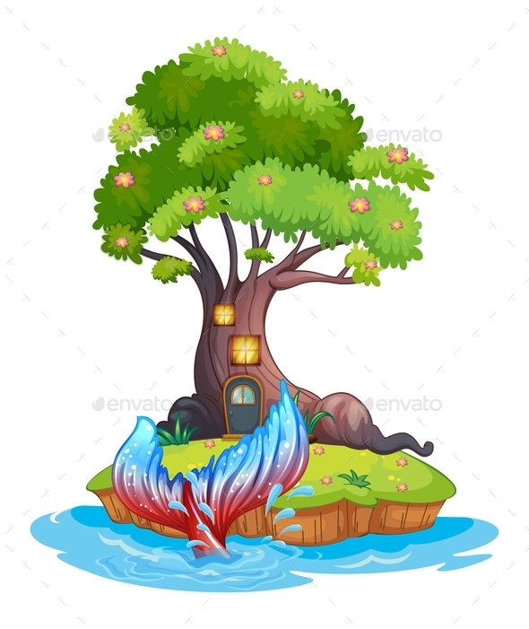 Island with Mermaid - Landscapes Nature