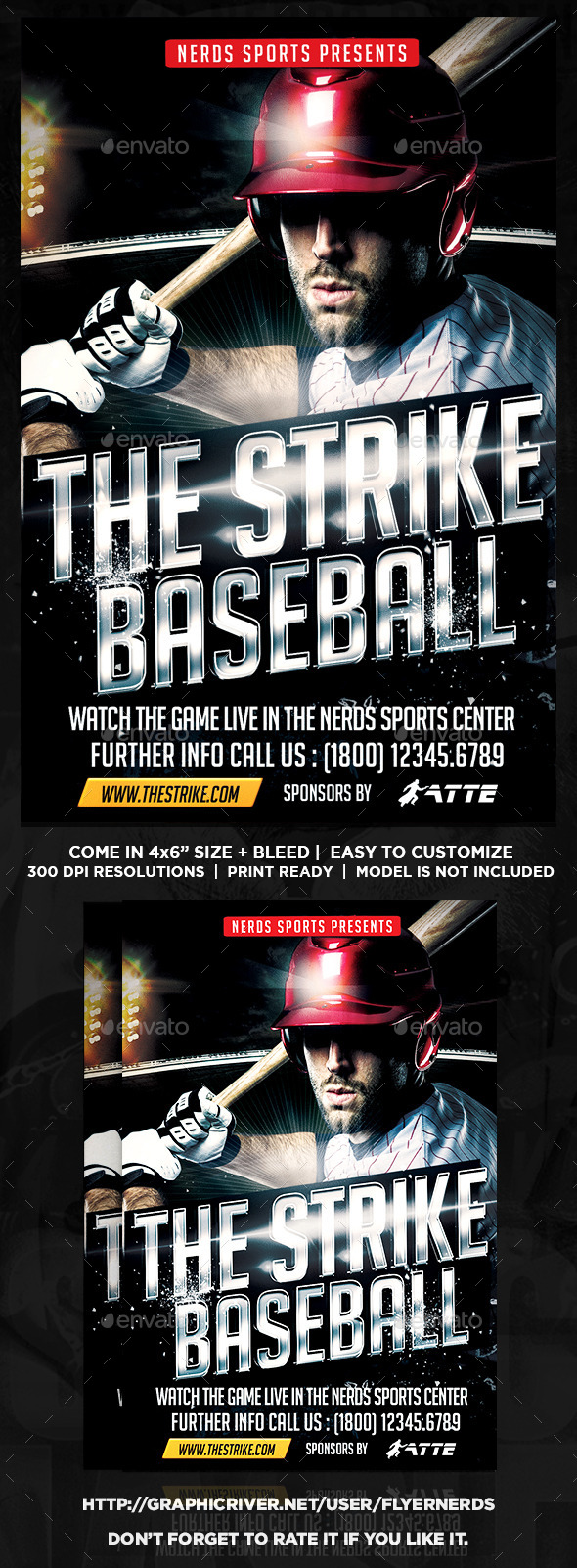 The Strike Baseball Flyer - Sports Events