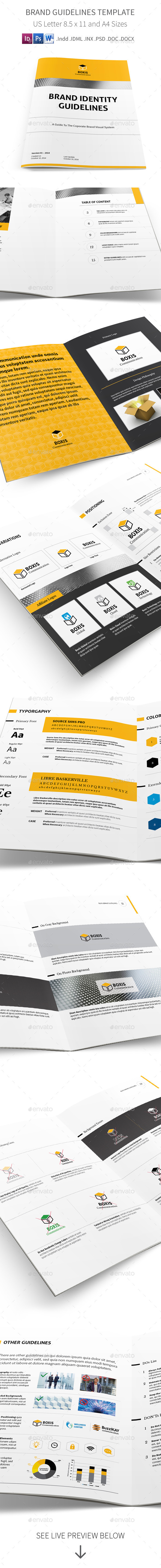 Brand Identity Guidelines Template - Informational Brochures