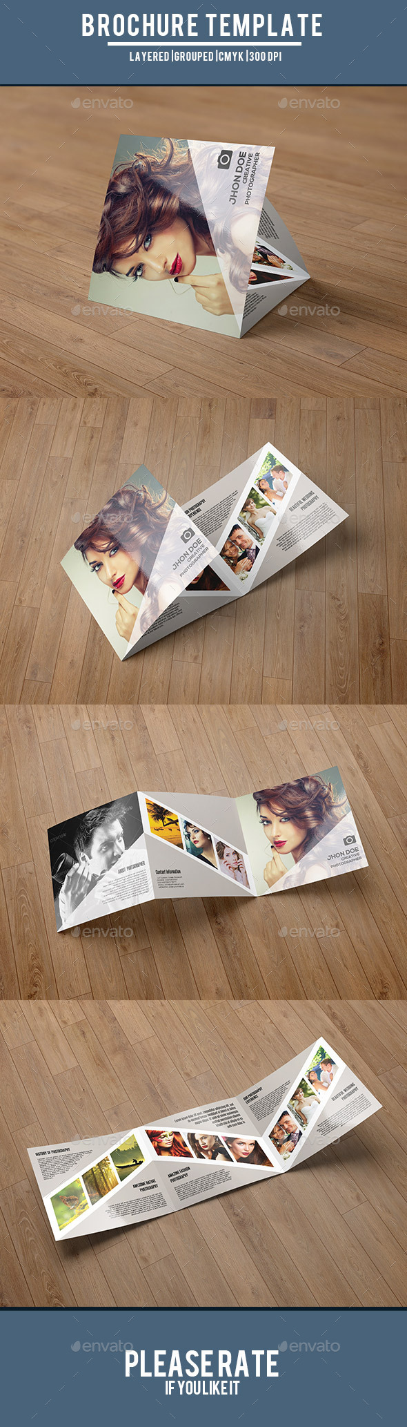 Photography Square Trifold-V49 - Corporate Brochures