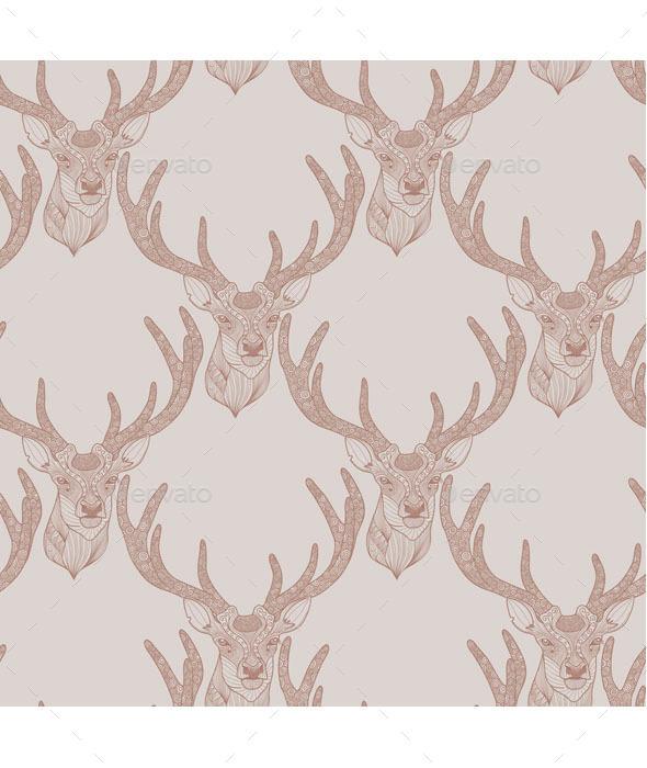 Deer Pattern - Animals Characters
