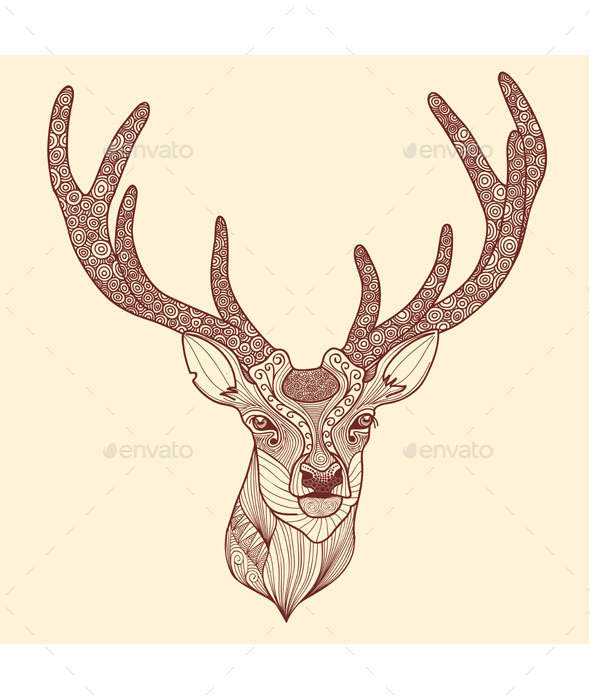 Deer Head - Animals Characters