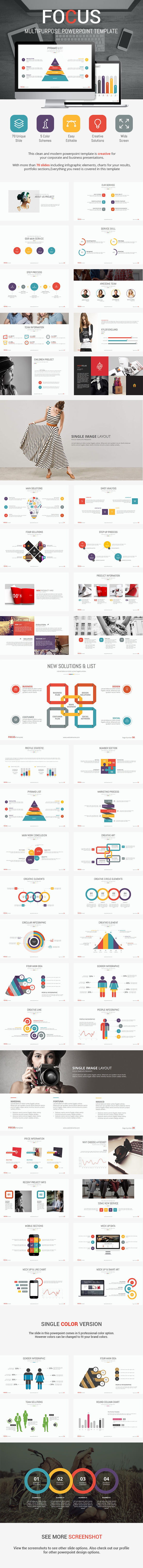 Focus - Presentation Template - Business PowerPoint Templates