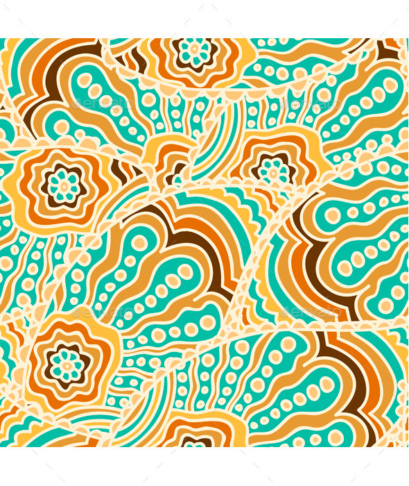 Seamless Paisley Pattern - Patterns Decorative