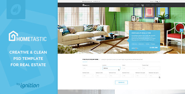 Hometastic – Real Estate PSD Template