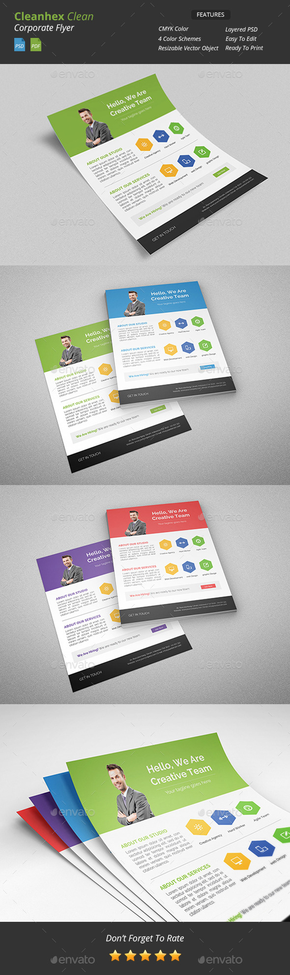 Cleanhex - Clean Corporate Flyer - Corporate Flyers