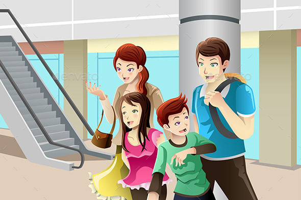 Family going to Shopping - Commercial / Shopping Conceptual