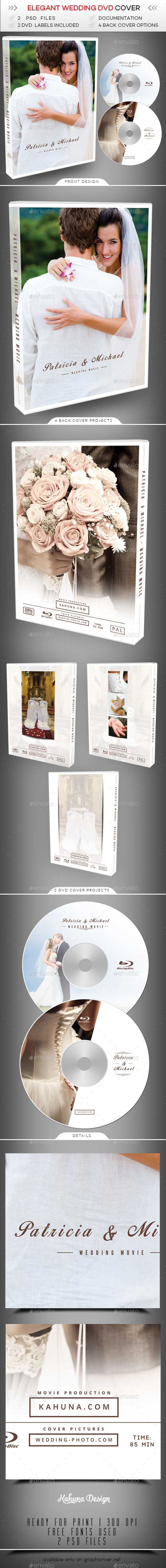 Wedding DVD Cover 3 - CD & DVD Artwork Print Templates