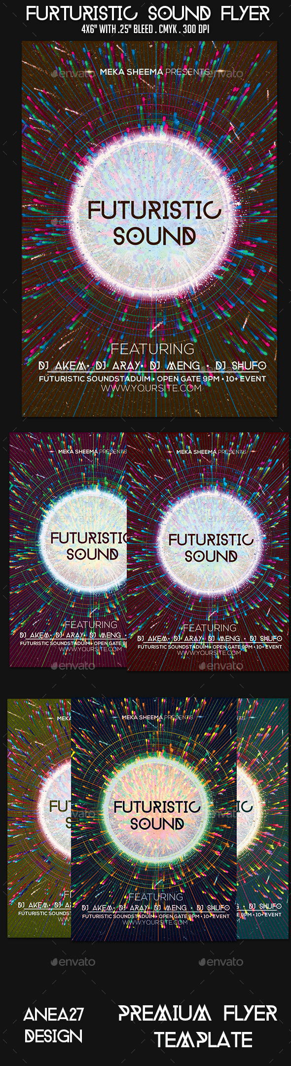 Futuristic Sound Flyer - Clubs & Parties Events
