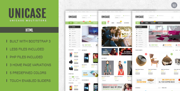 Unicase – Electronics eCommerce HTML Template