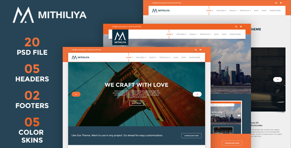 Mithiliya Multipurpose PSD Theme - Business Corporate