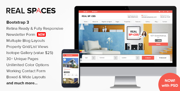 Real Spaces - Responsive Real Estate Template - Business Corporate