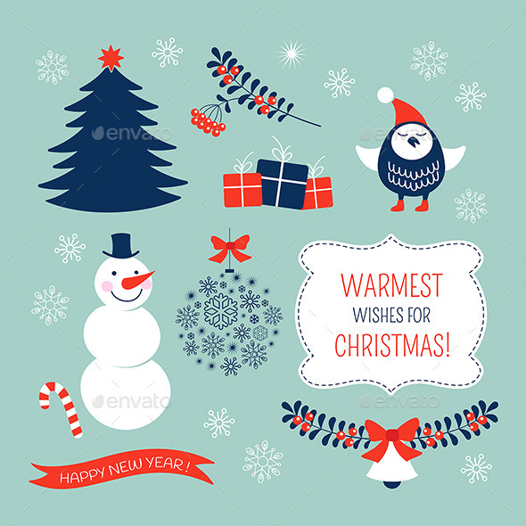 Christmas Graphic Elements Set - Christmas Seasons/Holidays