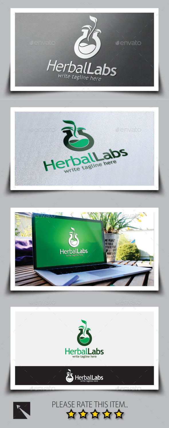 Herbal Lab Logo Template - Nature Logo Templates