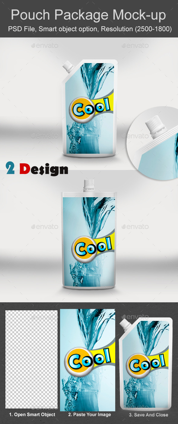 Pouch Package Mock Up 2 - Food and Drink Packaging
