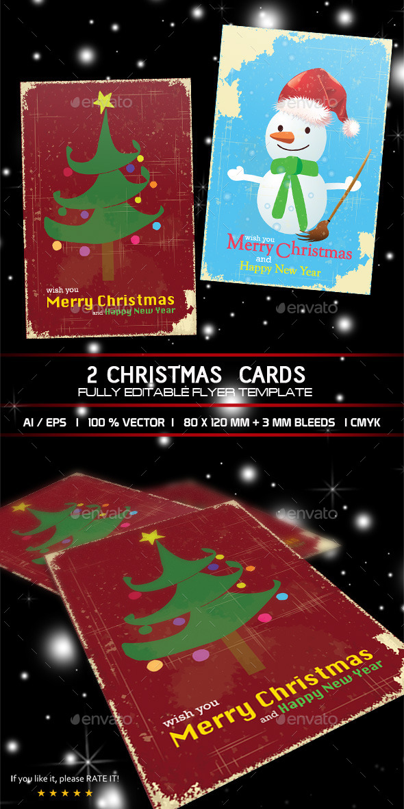 Christmas Cards - Cards & Invites Print Templates