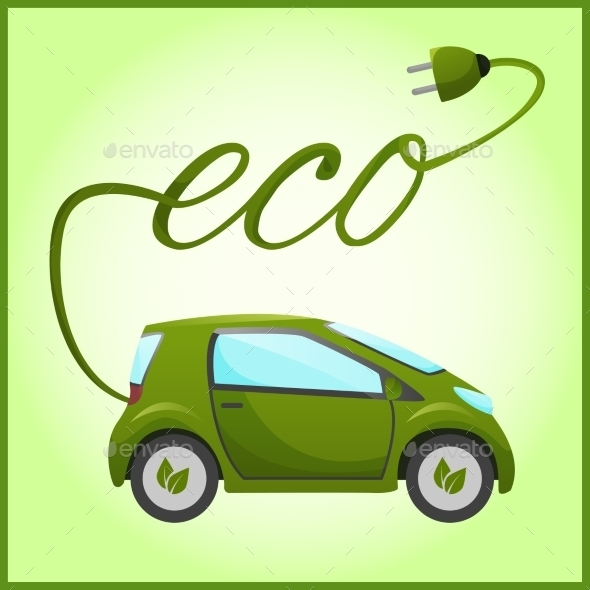 Electric Car with Eco Design - Technology Conceptual