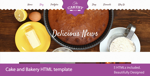 Cakery - Cake and Bakery HTML Template - Site Templates