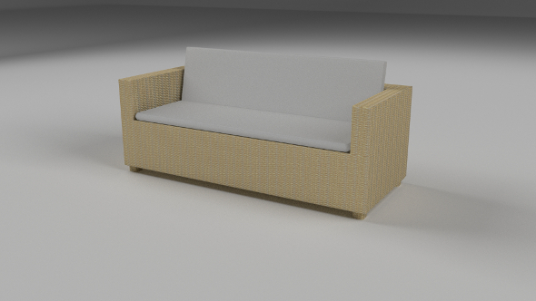 Wicker Couch - 3DOcean Item for Sale