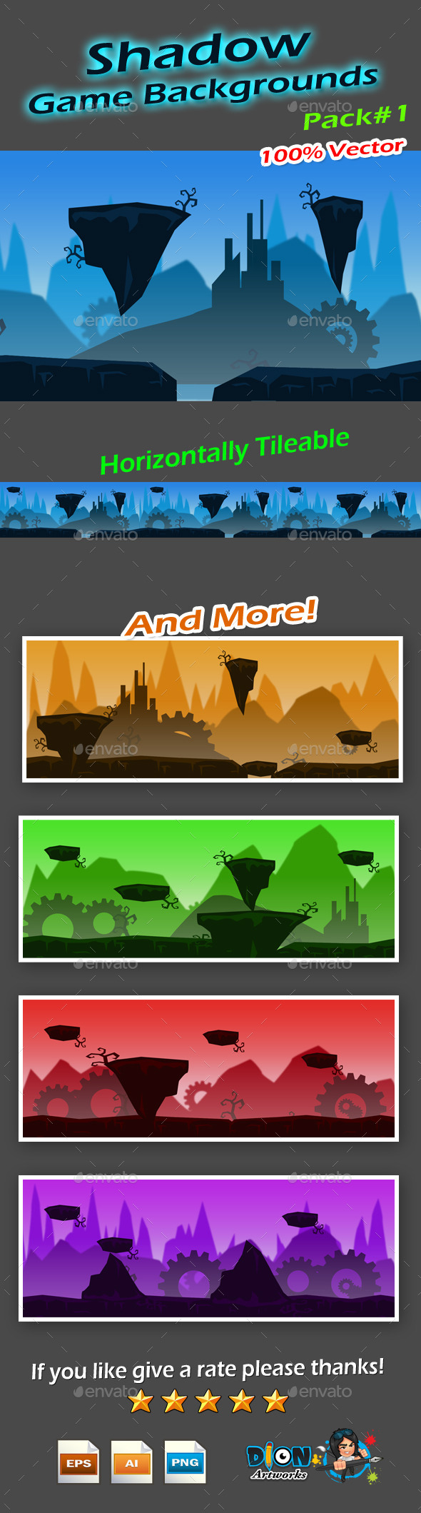 Shadow Game Backgrounds - Backgrounds Game Assets