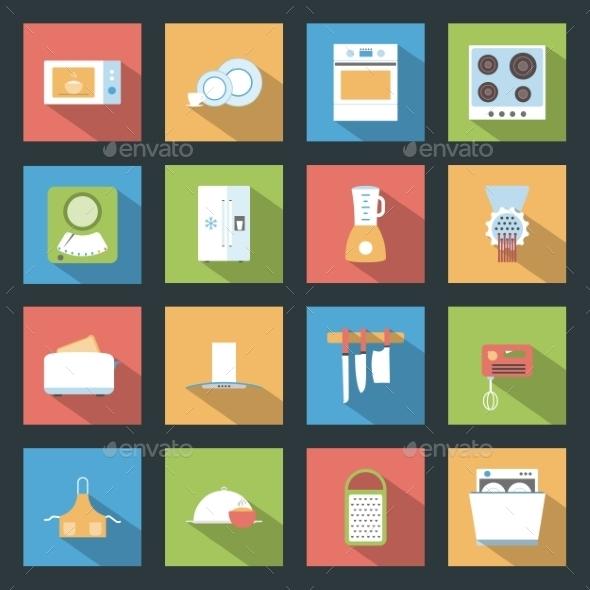 Kitchen Icons - Web Elements Vectors
