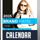 2015 Wall Calendar Template Design - GraphicRiver Item for Sale