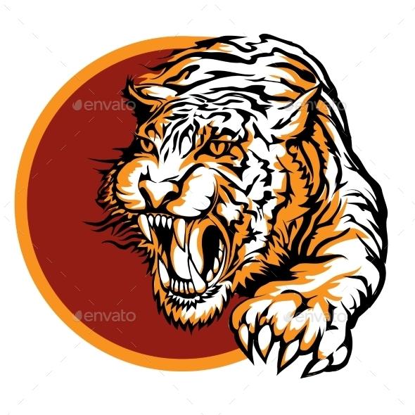 Tiger Symbol - Animals Characters