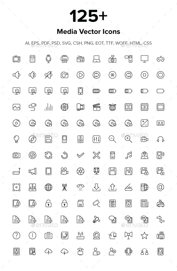 125+ Media Icons - Media Icons
