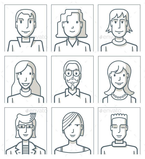Nine Avatars - People Characters