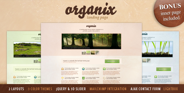 Free Download Organix - Simple Product Oriented Landing Page Nulled Latest Version