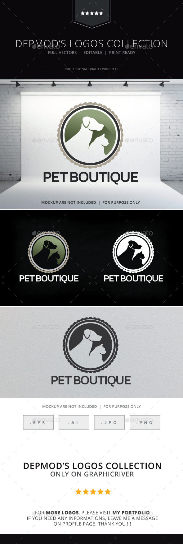 Pet Boutique Logo - Animals Logo Templates