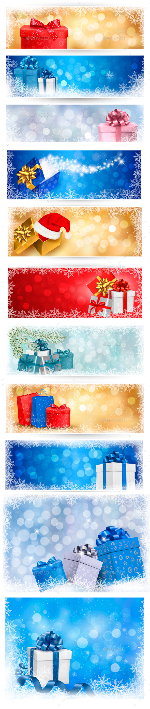 Christmas Backgrounds and Banners Bundle - Christmas Seasons/Holidays