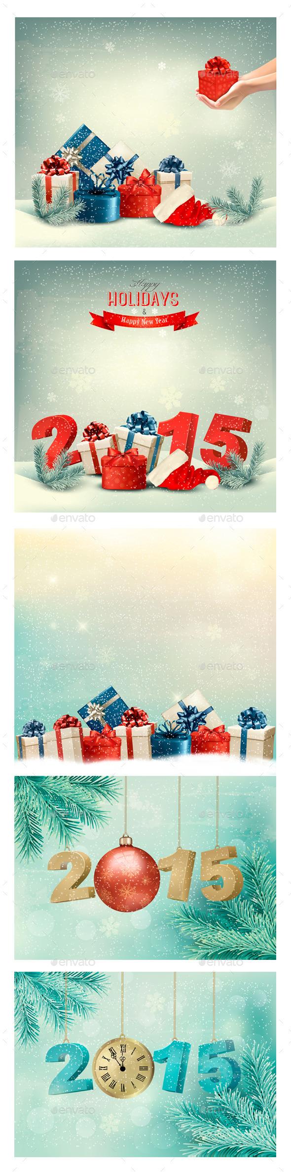 Holiday Christmas Backgrounds Bundle - Christmas Seasons/Holidays