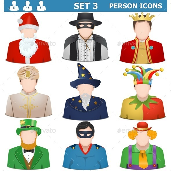 Vector Person Icons Set  - People Characters