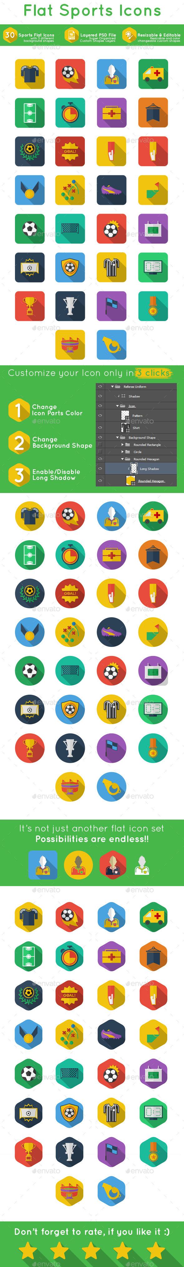 Flat Sports Icon - Icons