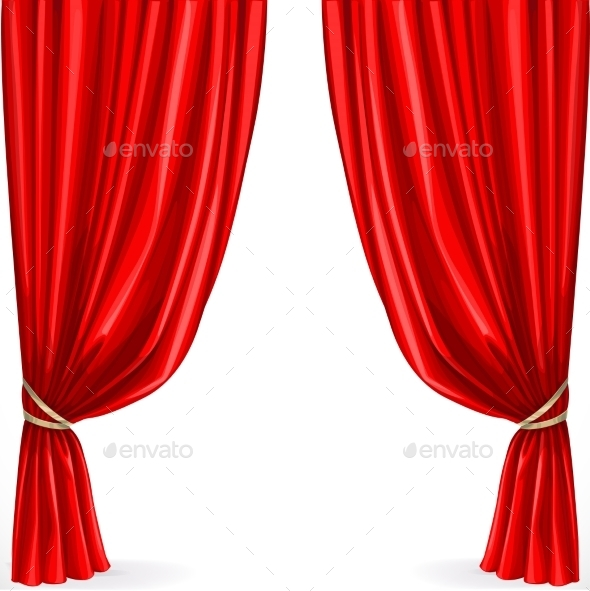 Red Curtain  - Objects Vectors