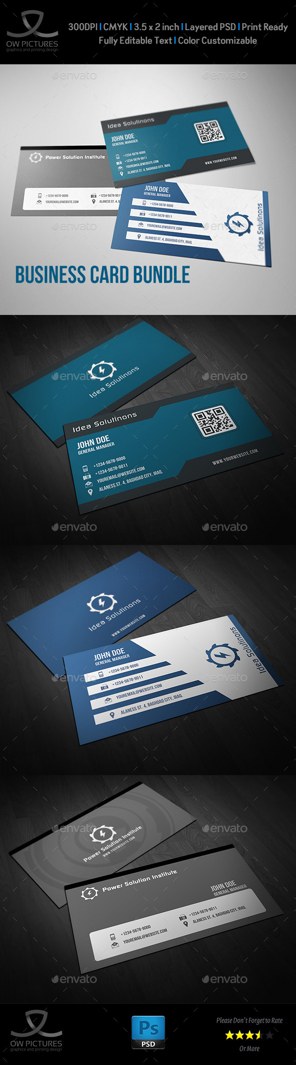 Corporate Business Card Bundle Vol.6 - Corporate Business Cards
