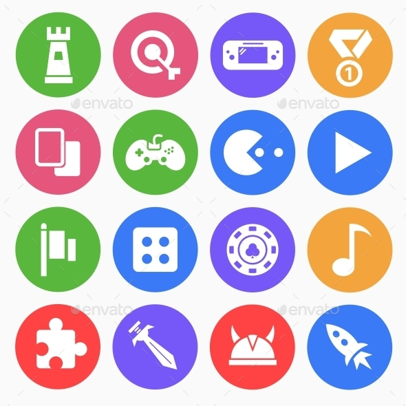 Gaming (Game) Flat Icons - Web Icons