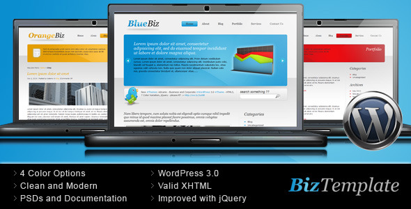 Biz Template – Business WordPress Theme