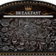Breakfast on Blackboard - GraphicRiver Item for Sale