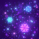 Neon Snowflakes - Christmas & New Year VJ - VideoHive Item for Sale