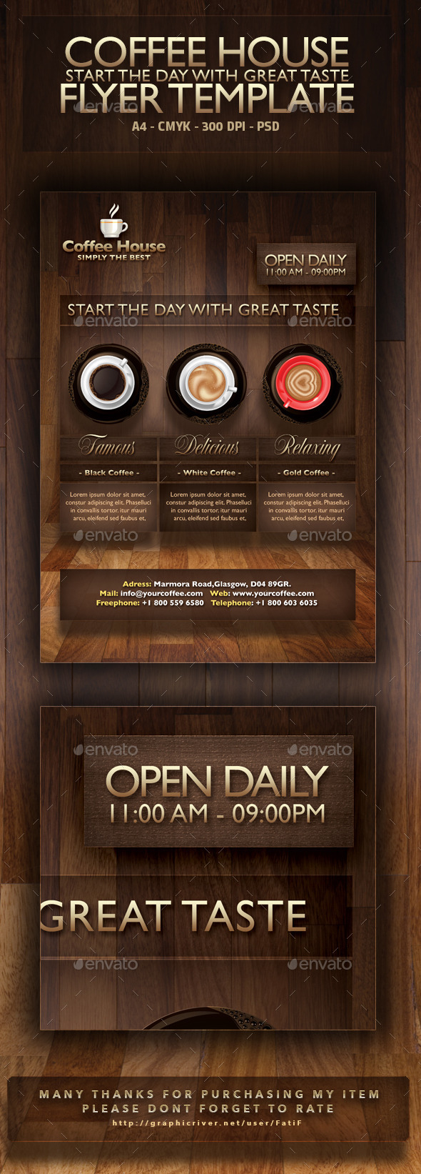 Coffee House Flyer Template - Restaurant Flyers