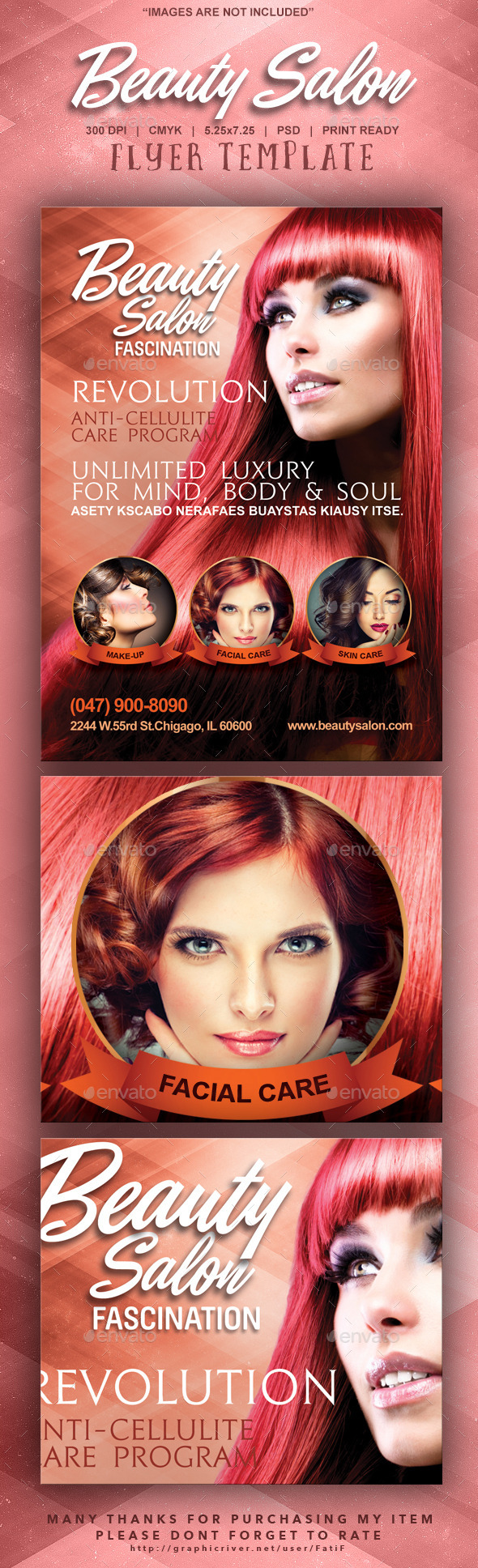 Beauty Salon Flyer Template - Corporate Flyers