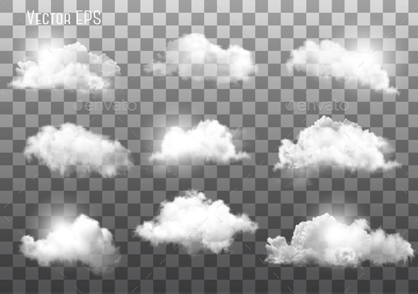 Clouds on Transparent Background - Nature Conceptual