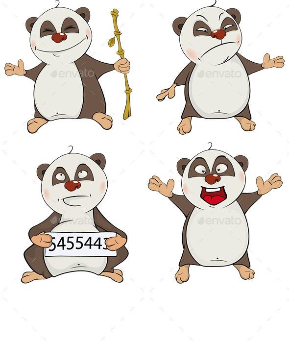 Set of Panda Bear Cubs - Animals Characters