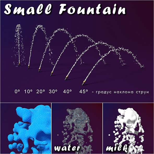 Small Fountain splash - 3DOcean Item for Sale